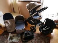 Icandy peach 3 Azure full bundle pram and pushchair