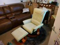 electric massage reclining leather chair