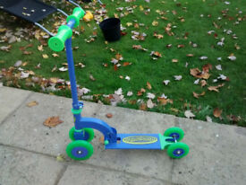Childs first scooter