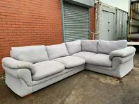 Grey corner sofa delivery 🚚 sofa suite couch furniture