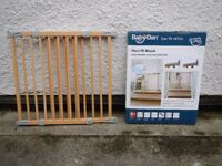 babydan stairgates x2 flex fit wood, one brand new in box.