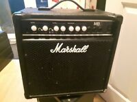 Marshall 25 watt BASS combo