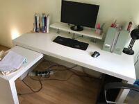 Ikea Malm desk - white