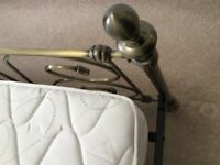 Double bed - metal bedstead and Silentnight mattress. 'Like new' condition.