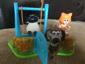 Timmy Time in park with Ruffy& Mittens