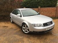 2003 AUDI A4 1.8 T QUATTRO SPORT SILVER (66,000 MILES) FSH STUNNING CAR MUST SEE!