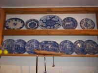 Pine bespoke double plate rack - could be painted