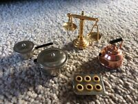 Dolls' House Metal Kitchen Items