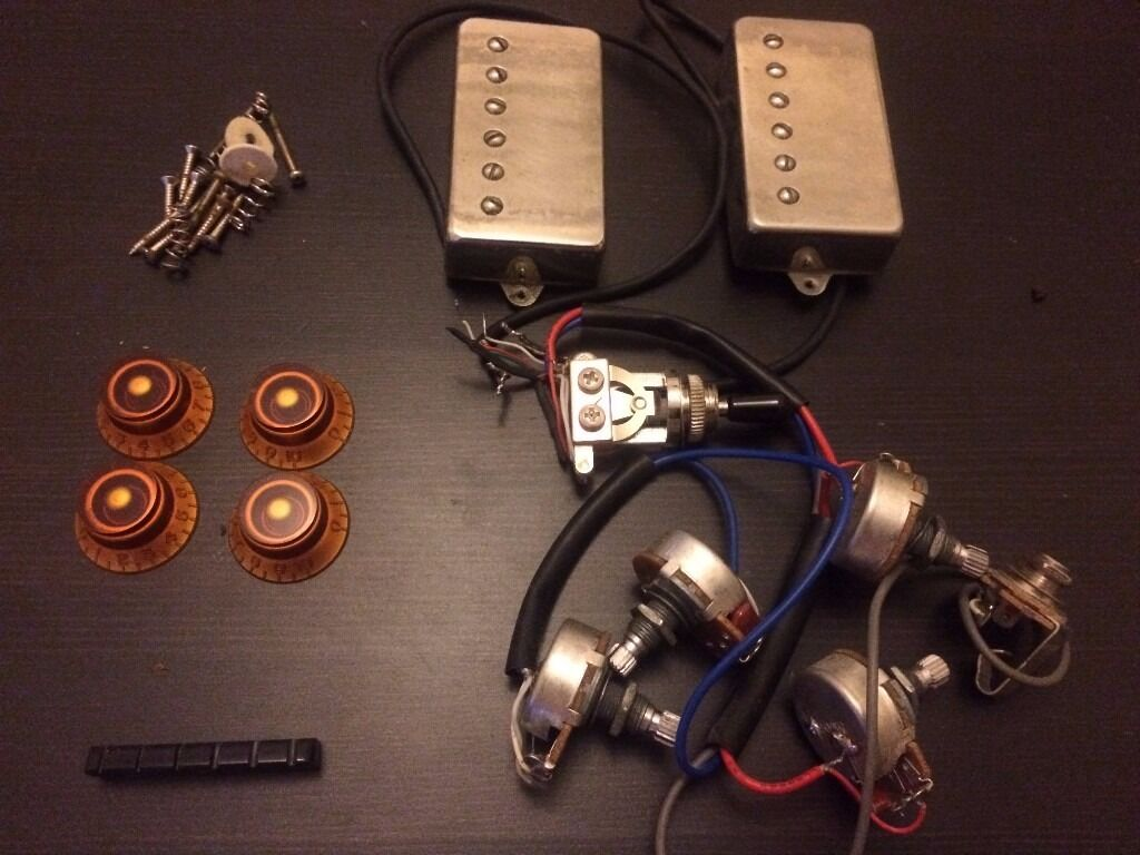 kent armstrong hpan+1 humbuckers w/pots, toggle switch ... wiring harness for epiphone dot 335
