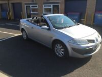 2006 Renault Megane convertible with panroof 12 months mot/3 months warranty (FREE MOT NEXT YEAR)
