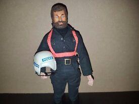 Vintage Action man - Rare Motorcycle Policeman