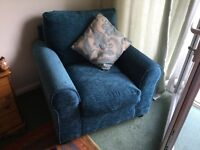 Sofa bed and matching chair ,hardly used.