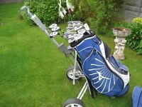 MIZUNO ZOID GOLF CLUBS IN BAG WITH TROLLEY