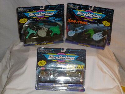 MicroMachines Space STAR TREK 3 Pack Bundle Star Trek Character