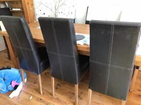 2 leather dining chairs for sale