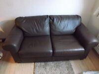 2 seat leather sofa