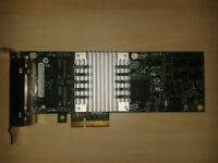 Intel Four port 1GB PCI-e x4 Network card.