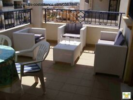 Costa Blanca, 2 bedroom, 2nd floor apt, English TV, Wi-Fi, A/C, from £140, 4 persons (ref SM038)