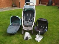 Quinney Buggy (pushchair, stroller) with car seat and Cot