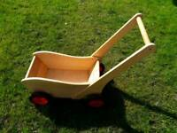 Beautiful wooden truck/push cart