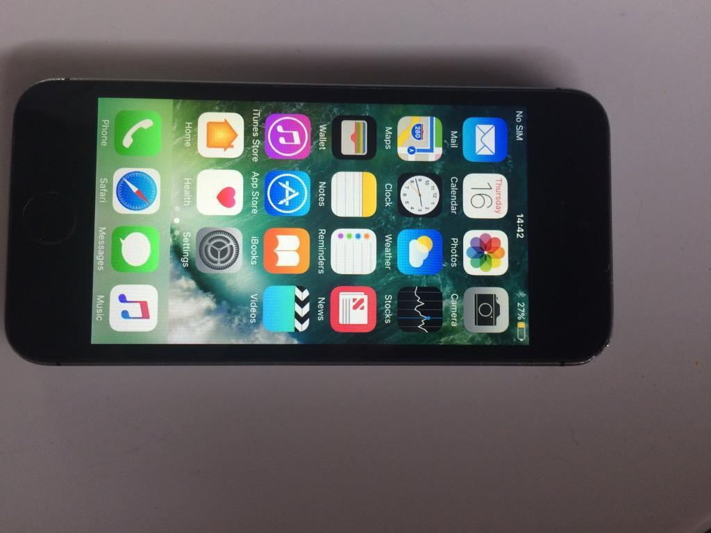 IPhone 5S Black 16GBin Canton, CardiffGumtree - IPhone 5S Black 16GB, works perfectly well. Phone is on Vodafone. £120