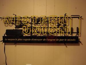 "Western Union ""Neon"" Sign"
