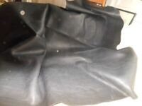 Huge piece thick quality black leather 141x135cmx3mm craft clothes diyRP£235