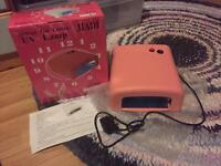 UV gel nail curing lamp with timer
