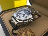 New Swiss Breitling Chronometre Stainless Steel CHRONOGRAPH Watch