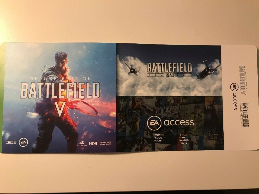 Battlefield 5 (V) + EA Access + Battlefield 1943 Xbox one digital redeem  code | in Edgbaston, West Midlands | Gumtree