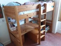 Stompa bunk bed with integral desk.