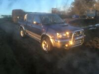 2002 nissan navara double cab 4x4 pick up 2.5 td bullet proof ideal export £975 no offers