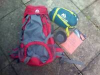 Hiking bag and equipment