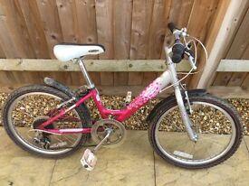 "Girl's bike- 20"" wheels with gears"
