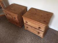 Pair of Pine bedsides