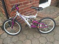 Girls Probike Stormcloud Full Suspension Mountain Bike