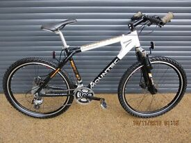 "MENS MOUNTEC GERMAN DESIGNED ALUMINIUM FRONT SUSPENSION BIKE, ALMOST NEW CONDITION. 18"" / 46cm FRAME"