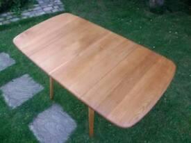Vintage Retro Mid Century Ercol Windsor drop leaf Plank dining table