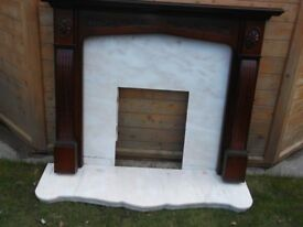 MARBLE FIRE SUROUND , HEARTH and FIRE SUROUND