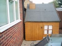 very good condition 2 storey play house with ladder to top floor