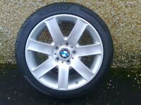 ALLOYS X 5 OF A COMPLETE SET OF BMW 3 SERIES/1 SERIES FULLY POWDERCOATED INA STUNNING SILVER SPARKLE