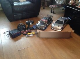 2x 4wdcompetition drift car oneill team checkpoint 19t brushed n cooled motor, carbon fibre chassis