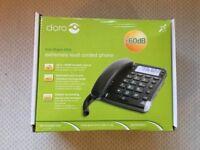 Extremely loud corded phone for the hearing impaired. Almost unused, just £35 (bought new for £70)
