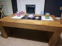 Oakfurnitureland tv cabinet and coffee table
