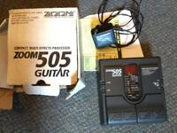 Zoom guitar FX effects 505 pedal boxed power supply