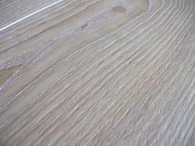 Massivholzdiele Dielen Esche Natur 20x180 x 600-2900 mm, gebürstet, weiß geölt  ()
