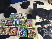 Xbox 360 + Kinect & 13 games and 3 controllers. (USED)