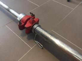 7FT OLYMPIC BARBELL WITH IRONMAN COLLARS