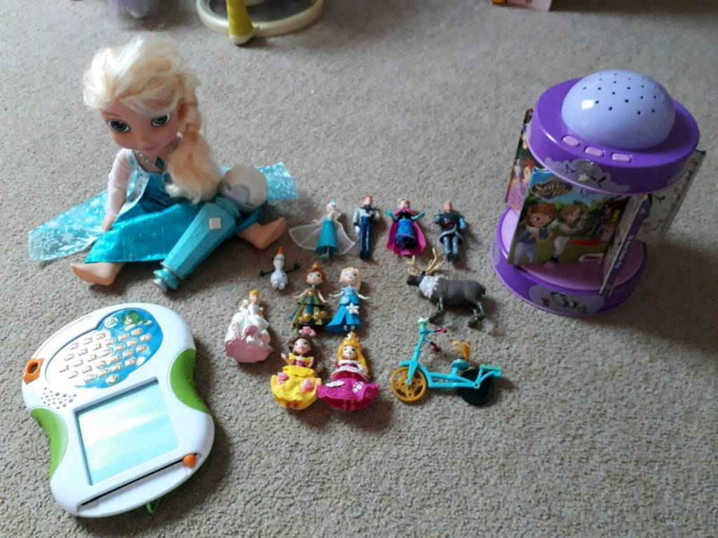 Toy bundle frozen Sofia the first leappad