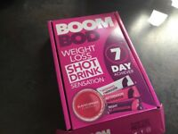 * BOOMBOD - ONE FULL BOX UNOPENED AND ONE NEARLY FULL BOX OF 5 DAYS *